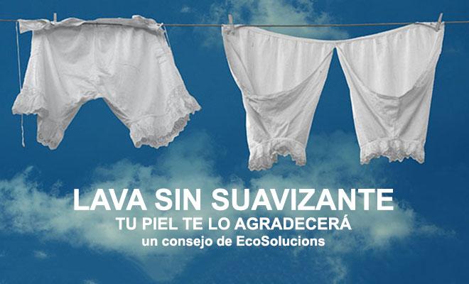 Lava tu ropa sin usar suavizantes