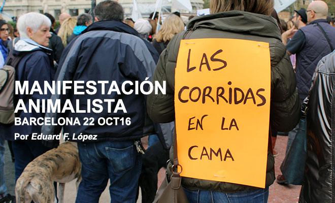 Manifestación animalista en Barcelona