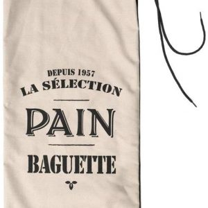 Bolsa para pan reutilizable de algodón